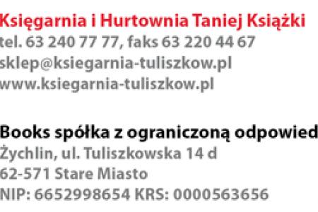 Podziękowania dla Księgarni i Hurtowni Taniej Książki