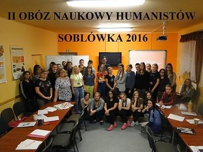 II Obóz Naukowy Humanistów - Soblówka 2016